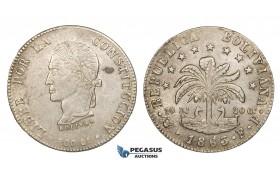AA036-R, Bolivia, 8 Soles 1863 PTS FP, Potosi, Silver, XF-AU