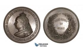 AA171, Australia, Victoria, Bronze Medal 1887 (Ø75mm, 245g) by Altmann, Adelaide Jubilee International Exhibition