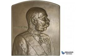 AA172, Austria, Bronze Plaque Medal 1902 (71x80mm, 217g) by Neuberger, Franz Joseph
