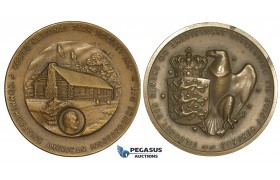 AA178, Denmark & United States, Bronze Medal ND (Ø38mm, 28.3g) American Independence Day, Rebild National Park