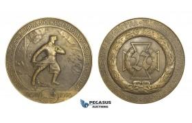 AA179, Finland & Germany, Bronze Medal 1925 (Ø72mm, 158g) by Wikstrom, Prussian Battalion 27, Civil War