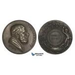 AA183, France, Silvered Bronze Medal 1901 (Ø50mm, 59.5g) Medicine & Surgery Society, Hippocrates