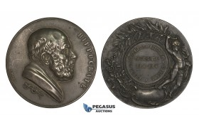 AA183, France, Silvered Bronze Medal 1901 (Ø50mm, 59.5g) Medicine & Surgery Society, Hippocrates
