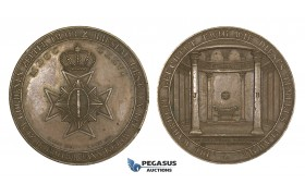 AA186, Germany & Poland , Bronze Medal 1826 (Ø47.5mm, 54.6g) by Loos & Gube, Breslau Masonic Lodge