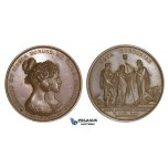 AA187, Germany, Bronze Medal 1827 (Ø42mm, 42.5g) by Loos, Wedding of Maria of Saxony to Prince Karl