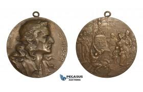 AA193, Germany, Bronze Medal 1905 (Ø60mm, 88.5g) by Mayer, Friedrich Schiller