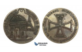 AA194, Germany & France, Bronze Medal 1914 (Ø54mm, 60.5g) WW1 Entry of Troops in Paris