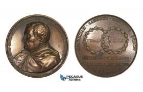 AA198, Poland, Bronze Medal 1822 (Ø50.5mm, 64.3g) by Gatteaux, Zamojski Academy