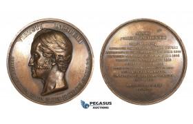 AA199, Poland, Bronze Medal 1847 (Ø56mm, 94.8g) by Barre, Prince Czartoryski, Polish Historical Society