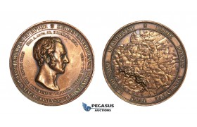 AA200, Poland & Russia, Bronze Medal 1859 (Ø63mm, 132g) by Bovy, Sir Stuart C. Dudley, Rare!
