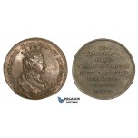 AA203, Sweden, Bronze Medal c. 1700 (Ø34mm, 14g) by Hedlinger, Queen Margaret