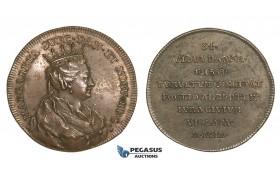 AA203, Sweden, Bronze Medal c. 1700 (Ø34mm, 14g) by Hedlinger, Queen Margaret