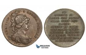 AA204, Sweden, Bronze Medal c. 1700 (Ø34mm, 14.1g) by Hedlinger, Queen Christina