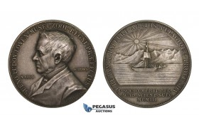 AA215, Sweden, Silver Medal 1903 (Ø31mm, 15.2g) by Lindberg, Sven Ludvig Loven, Arctic Ship