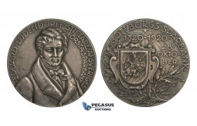AA225, Sweden, Silver Medal 1920 (Ø45mm, 52g) by Kulle, Göteborg Savings Bank, RR!!