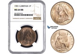 AA248, Great Britain, Victoria, Penny 1901, NGC MS64RB