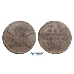 AA287, France, Louis XIV, Siege of Lille, 10 Sols 1708, VF-XF