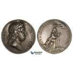 AA333, Sweden, Silver Medal 1675 (Ø30mm, 12.4g) by Karlsteen, Karl XI Coronation in Uppsala