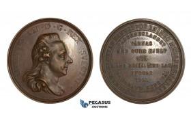 AA334, Sweden, Gustav III, Bronze Medal c. 1790 (Ø57mm, 50g) by Enhorning, Mining Association, Rare!
