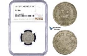 AA356-R, Venezuela, 1 Centavo 1876, NGC VF20