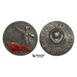 AA455, Soviet Russia, Silver Medal 1972 (Ø55mm, 92g)  50th Anniversary of USSR, Lenin