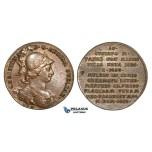 AA457, Sweden, Bronze Medal c. 1700 (Ø33mm, 15g) by Hedlinger, Queen Christina
