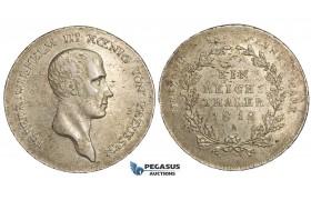 AA484, Germany, Prussia, Friedrich Wilhelm III, Taler 1812-A, Berlin, Silver (22.14g) aXF