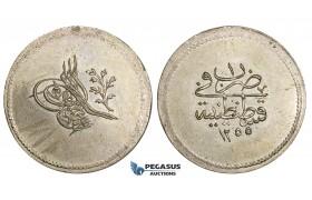 AA515, Ottoman Empire, Turkey, Abdul Mejid, 3 Para AH1255/1, Billon, UNC (Graffiti on Obv)