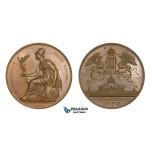 AA582, Austria, Bronze Medal 1873 (Ø53mm, 55.4g) by Schmahlfeld, World Exhibition, Owl, Athena