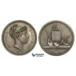 AA594, France & Netherlands, Silver Medal ND (Ø23mm, 6.8g) by Andrieu, Later Strike, Queen Hortense