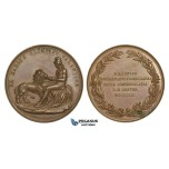 AA605, Norway, Bronze Medal 1861 (Ø42.5mm, 30g) by Loos & Kullrich, Oslo Friedrich Academy, Nude Art