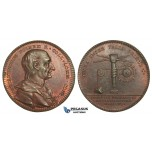 AA612, Sweden, Bronze Medal 1749 (Ø31.5mm, 11.1g) by Fehrman, Christopher Polhem, Engineer