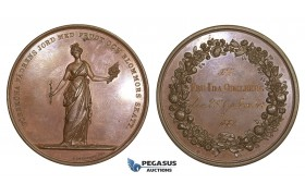 AA614, Sweden, Bronze Art Nouveau Medal 1887 (Ø55mm, 69g) by Lundgren, Horticulture