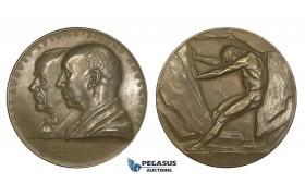 AA619, Sweden, Bronze Medal 1939 (Ø56.5mm, 68.7g) by Lindberg, Alfred Nobel, Nitroglycerin, Nude Art