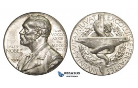 AA621, Sweden, Silver Medal ND (1920) Alfred Nobel (Ø27mm, 11.9g) Swedish Medical Society