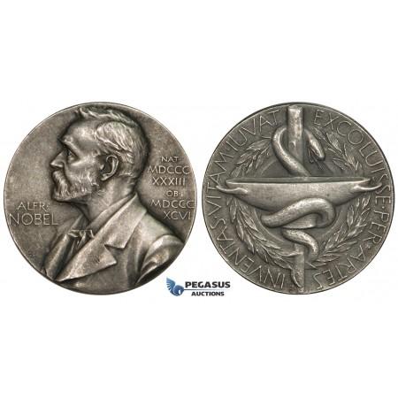 AA622, Sweden, Silver Medal ND, Alfred Nobel (Ø26.6mm, 12.8g) Swedish Medical Society
