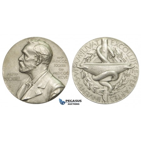 AA623, Sweden, Silver Medal ND (1973) Alfred Nobel (Ø26.6mm, 12.8g) Swedish Medical Society