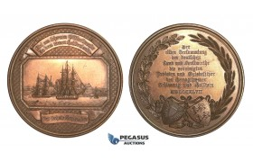 AA737, Germany, Bronze Medal 1847 (Ø50.5mm, 62.2g) by Schilling, Baltic Sea, Ships, Schleswig-Holstein Forestry Workers
