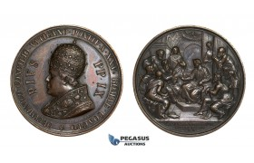 AA738, Italy, Bronze Medal 1869 (Ø43mm, 32.4g) by Moscetti, Pope Pius IX, First Vatican Council