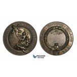 AA739, Italy, Silvered Bronze Art Nouveau Medal 1894 (Ø47mm, 49.6g) by Johnson, International Labor Exhibition