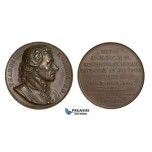 AA742, Poland, Bronze Medal 1818 (Ø41mm, 39.8g) by Caunois, Tadeusz Kosciuszko, National Hero