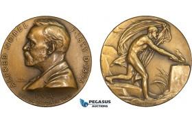 AB206, Sweden, Bronze Medal 1926 (Ø45mm, 38g) by Lindberg, Alfred Nobel, Medicine