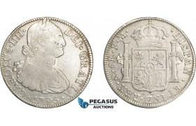 AD628, Mexico, Charles IV, 8 Reales 1795 Mo FM, Mexico City, Silver, F-VF