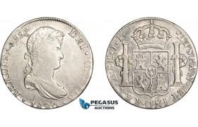 AD632, Mexico, Ferdinand VII, 8 Reales 1820 Mo JJ, Mexico City, Silver, Cleaned aVF