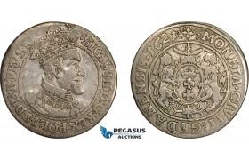 AD637, Poland, Danzig, Sigismund III, Ort (1/4 Taler) 1621 SB, Silver (6.50g) Toned VF