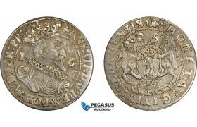 AE375, Poland, Danzig, Sigismund III, Ort (1/4 Taler) 1625, Silver (6.86g) Toned AU