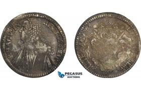 AE376, Ragusa, Tallero Rettorale 1764 GB, Silver (28.28g) Toned XF