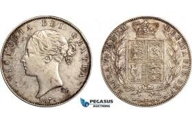 AF029, Great Britain, Victoria, Half Crown 1879, London, Silver, Toned aXF