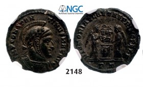 Lot: 2148. Roman Empire, Constantine I, 307-337 AD, Æ3 (Nummus) (Struck 325 AD) Ticinum, Billon (3.27g), NGC AU