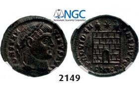 Lot: 2149. Roman Empire, Constantine I, 307-337 AD, Æ3 (Nummus) (Struck 327-328 AD) Cyzicus, Billon (3.47g), NGC AU